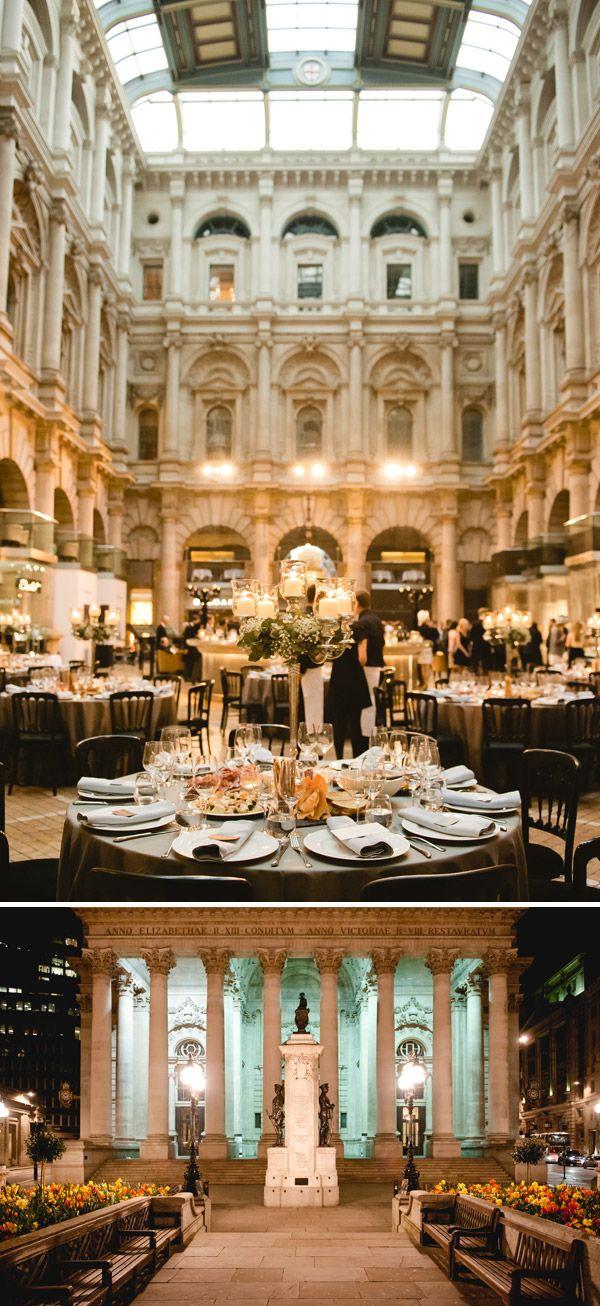 The Royal Exchange in London - perfect wedding venue for a classic and modern wedding affair http://www.weddingmusicproject.com/ceremony-music/wedding-hymns/catholic-wedding-hymns/  http://www.weddingmusicproject.com/ http://www.weddingmusicproject.com/ceremony-music/wedding-hymns/