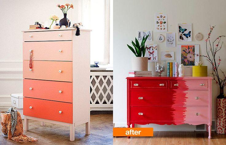 Reformar / renovar um armário sem gastar muito? Tem inspiração que não acaba…