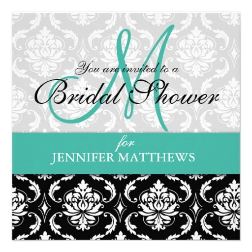 >>>Order          	Turquoise Bridal Shower Invitation Damask Monogram           	Turquoise Bridal Shower Invitation Damask Monogram lowest price for you. In addition you can compare price with another store and read helpful reviews. BuyThis Deals          	Turquoise Bridal Shower Invitation Da...Cleck Hot Deals >>> http://www.zazzle.com/turquoise_bridal_shower_invitation_damask_monogram-161699675838362921?rf=238627982471231924&zbar=1&tc=terrest