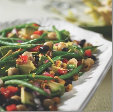 Rose Reisman: 3-Bean, Avocado and Charred Corn Salad with Lime Dressing