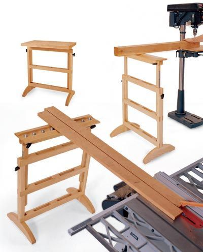 Work Support Stand Woodworking Plan, Shop Project Plan | WOOD Store: