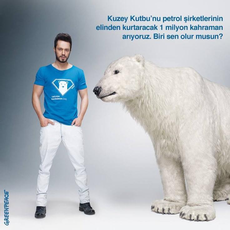 Kuzey Kutbu'nu petrol şirketlerinden kurtarmak için harekete geçecek 1 milyon kahraman arıyoruz. Tıkla ve katıl> http://www.1milyonkahraman.org/  Çünkü Kuzey Kutbu demek, gezegenimizin iklim dengesi demek.