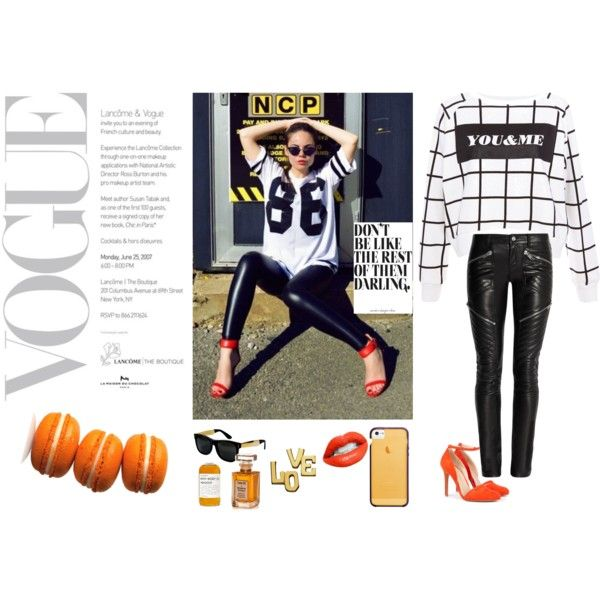 """A touch of orange"" by clarahsu on Polyvore"