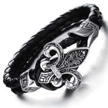 kožený volant černé pletené náramky náramky Hot Wheels pulseiras létat rám kapely hrají beacelet zapatos-mujer (Čína (pevninská část))