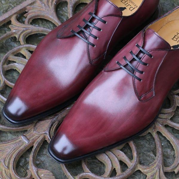 Oxblood Derby Blucher Shoe | Thomas Bird