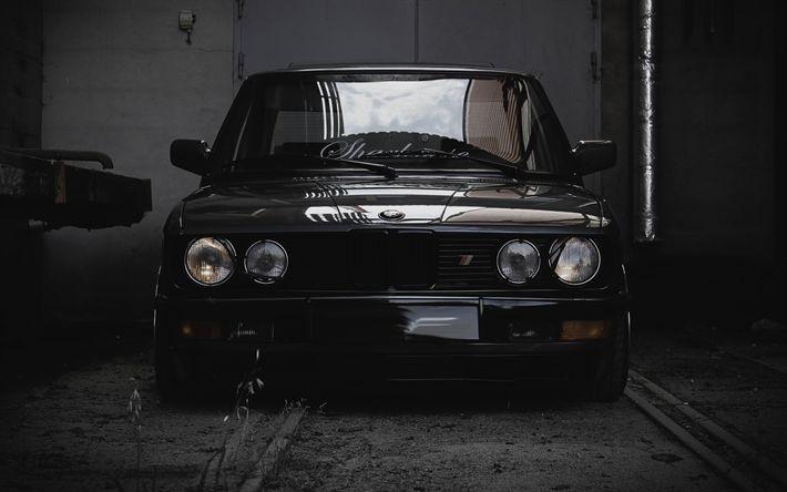 Descargar fondos de pantalla BMW M5 E28, 4k, la afinación, la postura, BMW serie 5, los coches alemanes, BMW
