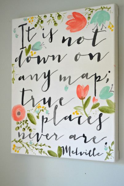 It is not down on any map - Aimee Weaver Designs