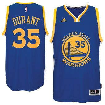 Men's Golden State Warriors Kevin Durant adidas Royal Road Swingman Jersey