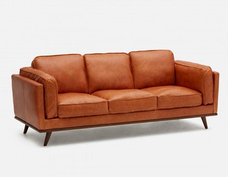 ROWAN 100% Leather 3 Seater Sofa