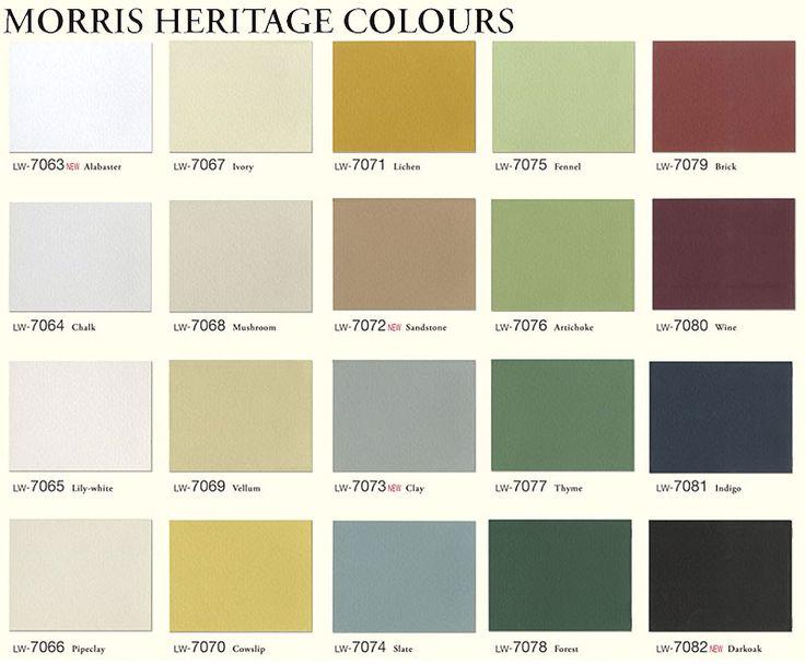 Morris Heritage Colours Colours I Love Pinterest