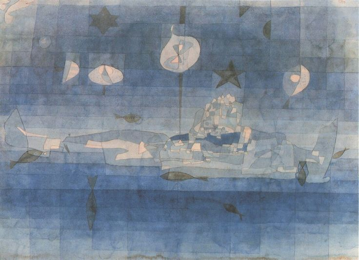 Paul Klee (Swiss-German, 1879-1940),Versunkene Insel [Sunken island], 1923. Watercolour on paper laid on board.