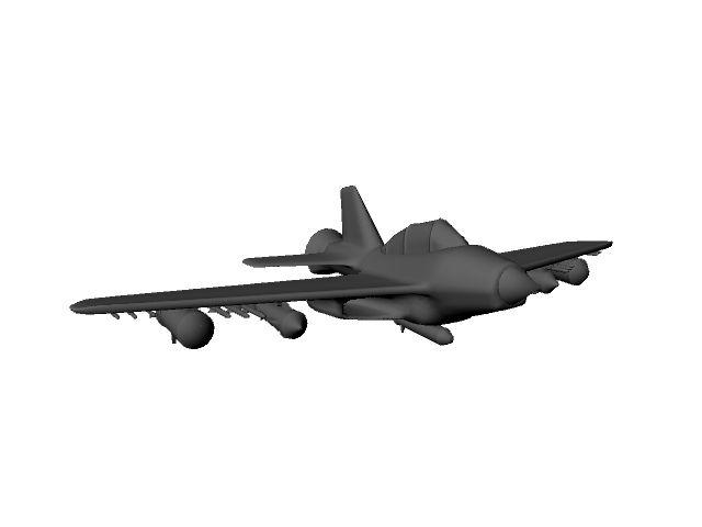 Jet PLane 3D Model- Jet Plane with rockets made in Maya    Jet Plane with rockets made in Maya - #3D_model #Military