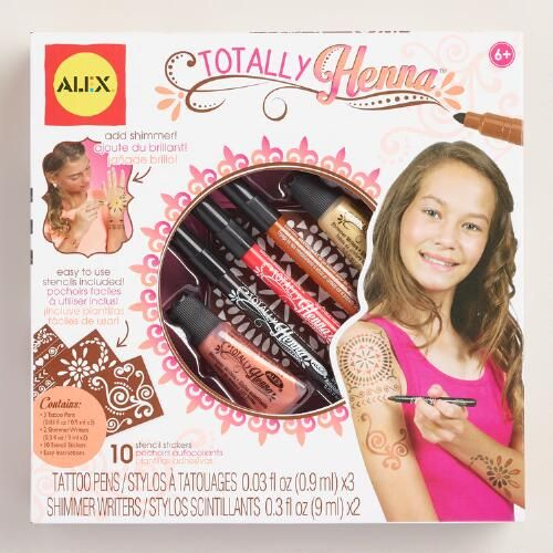 One of my favorite discoveries at WorldMarket.com: Glitter Henna Body Art Kit