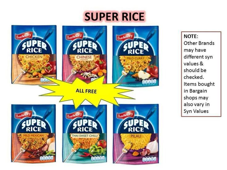Syn Free Rice Slimming World Pinterest