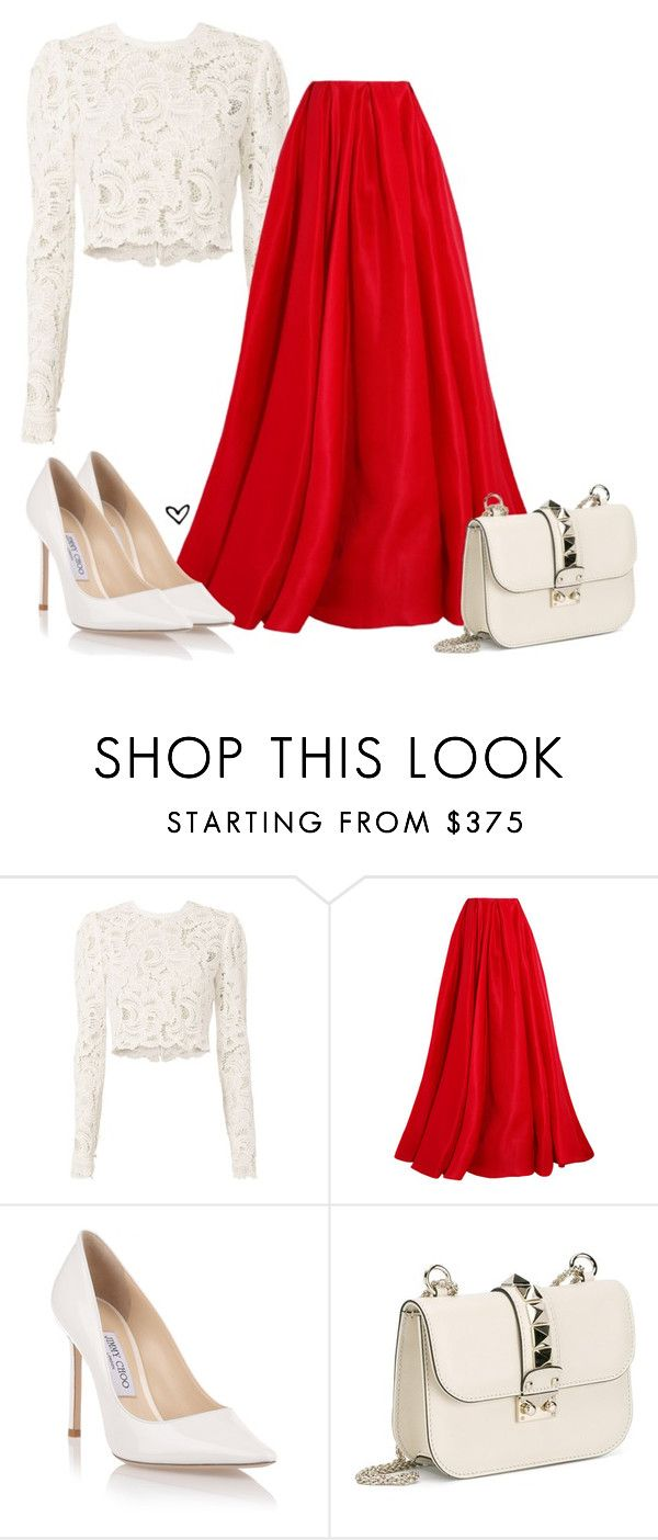 """Bez naslova #3972"" by lillyrosalie ❤ liked on Polyvore featuring A.L.C., Reem Acra, Jimmy Choo and Valentino"