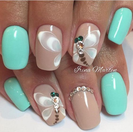 Nail Design Ideas grey nail design idea 25 Best Ideas About Butterfly Nail Designs On Pinterest Butterfly Nail Art Pretty Nails And Nail Tip Designs