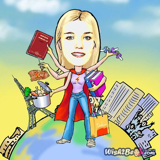 Cartoon yourself from photo online with Wish2Be free caricature maker