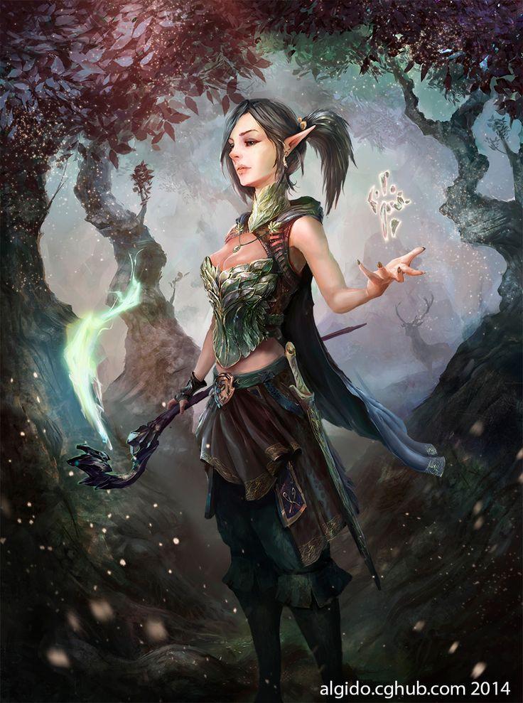 Fantasy Art: Edelweiss - 2D Digital, FantasyCoolvibe – Digital Art Fantasy Art by Yuriy Chemezov