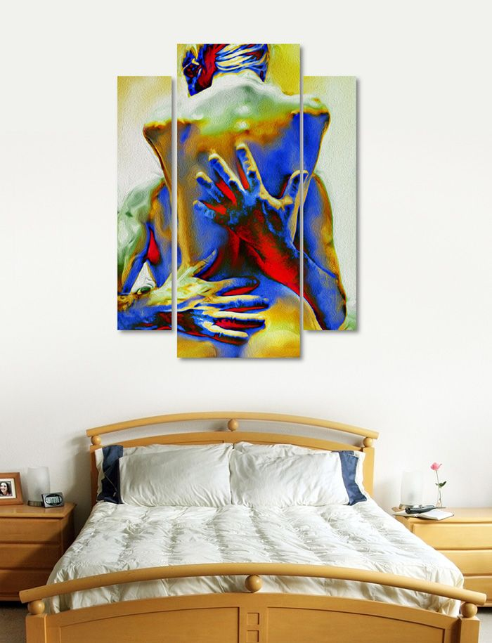 1000 ideas about 3 piece canvas art on pinterest - Sensual paintings for the bedroom ...
