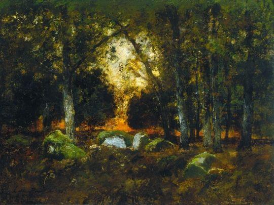 Erdőrészlet sziklákkal, 1876: A magyar festészet rejtőzködő csodái I. () 27.tétel
