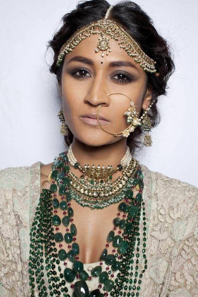 Sabyasachi bride. (M.A.C. Cosmetics/ Delhi Couture Week 2013)