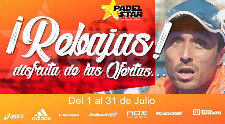 REBAJAS de PÁDEL este VERANO. Los Mejores Precios en PALAS de Pádel, Zapatillas, Paleteros, Ropa y Accesorios de PÁDEL ¡Grandes DESCUENTOS!