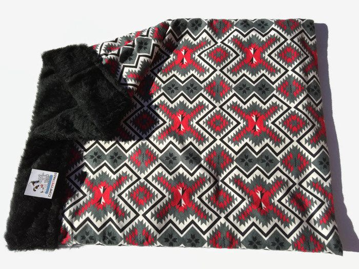 Aztec Snuggle Sack, Dog Blanket, Burrow Bed, Pet Pouch, Southwestern Decor, Cuddle Cup, Doxie Bed Warmer, Dachshund Bed, Bed Warmer, Cat Bed by ComfyPetPads on Etsy