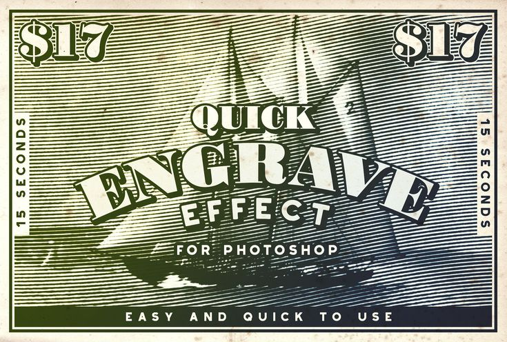 Quick Engrave - Engraver Effect by Greg Nicholls on @creativemarket