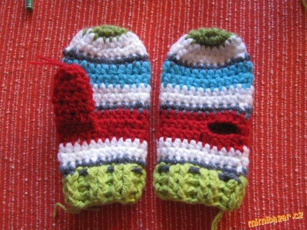 Jednoduché rukavičky rukavice palčáky vhodné i pro úplné začátečníky