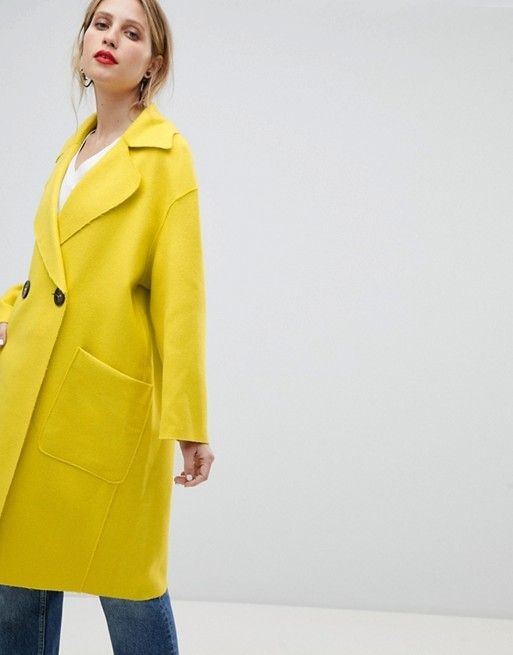 Mango Edge To Edge Lightweight Car Coat   Hello, Yellow   Style Inspiration  2018   Pinterest   Jaune and Femme 1d13a11bef21