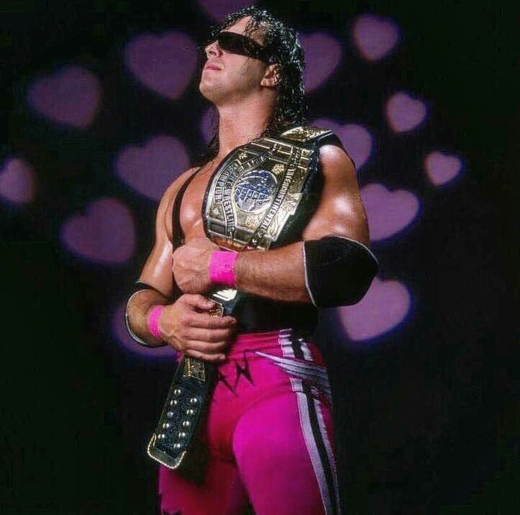 "WWE Intercontinental Heavyweight Wrestling Champion Bret ""Hitman"" Hart"