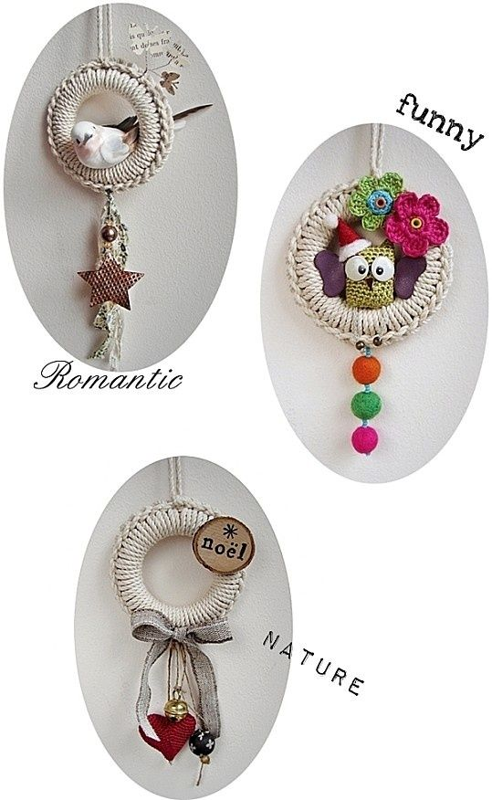 Pure Pinspiration! Crochet ornaments. No link; just picture tutorial. . ❉CQ #crochet #christmas   http://www.pinterest.com/CoronaQueen/crochet-christmas-corona/