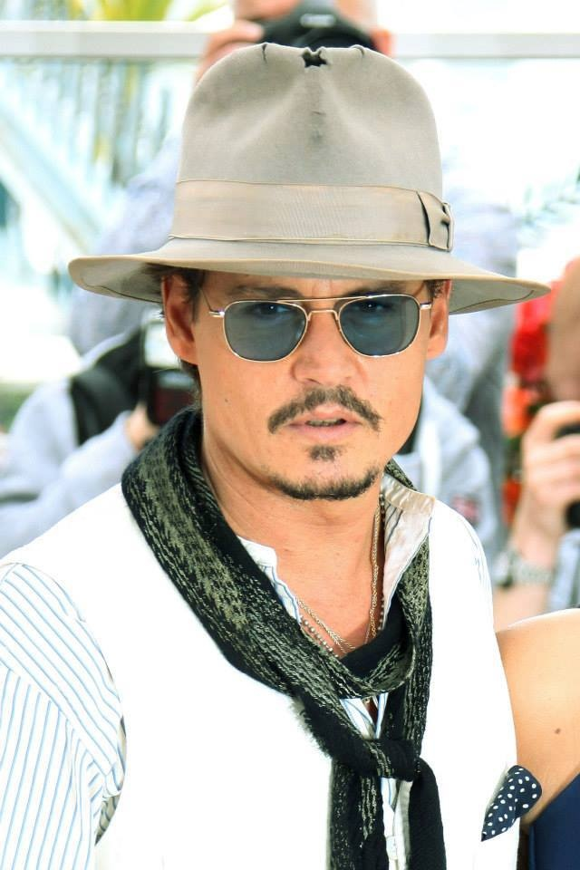 Johnny Depp, male actor, hat, glasses, beard, sexy guy, intense eyes, eye candy, celeb, steaming hot, famous, portrait, photo