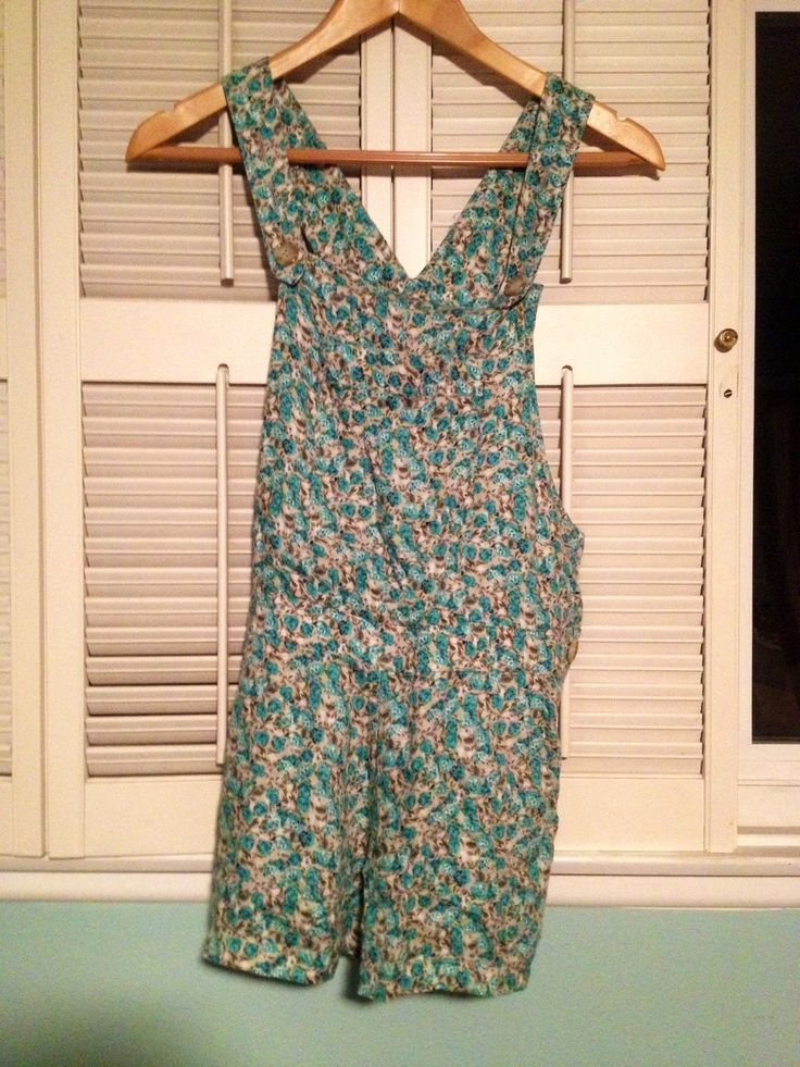 Floral overalls from Forever21, size small