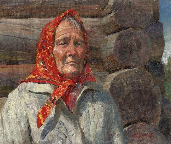 Татьяна Юшманова. Портрет Ады Александровны. 2001 г. Холст, масло. 50х60 см