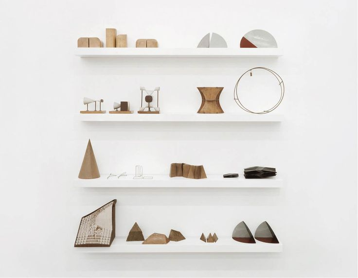 + Geometric displayFloating Shelves, Products Display, Art, Decor Inspiration, Wall Shelves, Wood Sculpture, Collection, Products Design, White Wall
