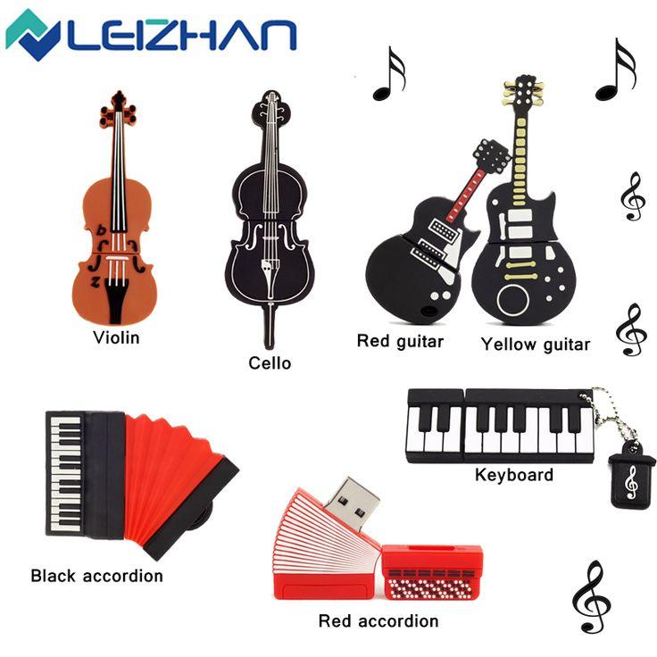 Alat musik leizhan usb flash drive hadiah usb flash drive 4 GB 8 GB 16 GB 32 GB 64 GB Pendrive USB 2.0 Pen Drive Memory Stick