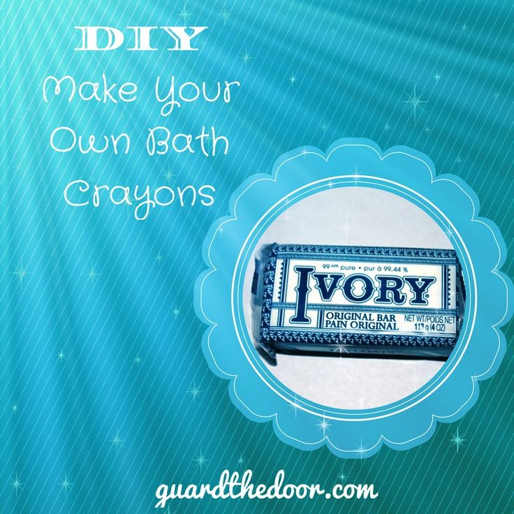 DIY Bath Crayons #IvorySoap #bathtime #BathCrayons