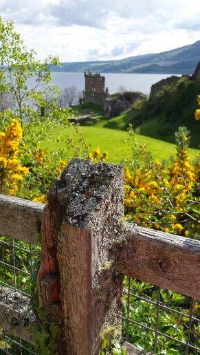 Urquhart Castle, här kunde man bli uppspikad i örsnibbarna.  På 1500-talet.