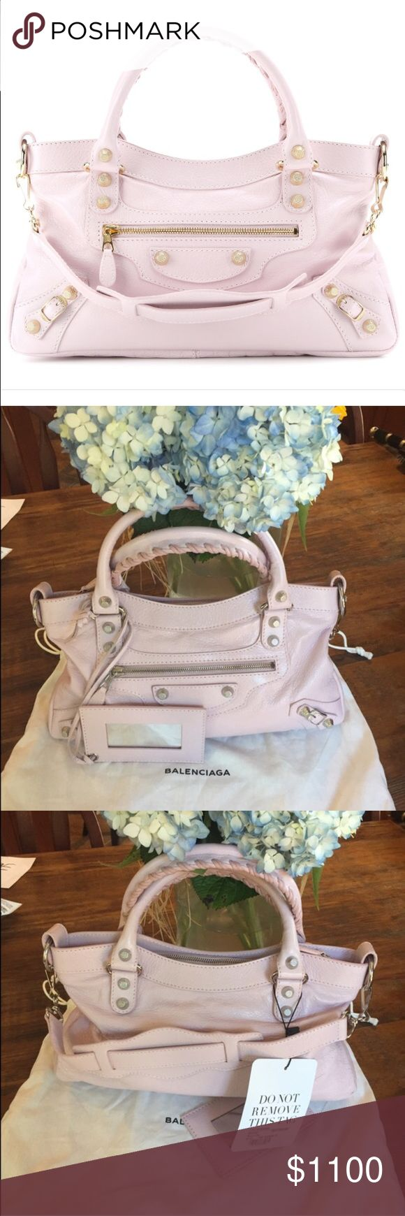 NWT Balenciaga Rose Poudre Giant 12 First Bag Brand New.  Comes with detachable strap, mirror and dust bag.  Silver hardware.  First picture is just a stock photo.  Gorgeous for spring/summer.  Price is negotiable.  ❌trades ✅posh only Balenciaga Bags