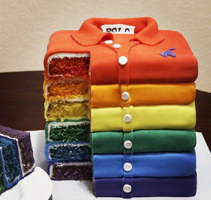 #Rainbow #Polo #Cake