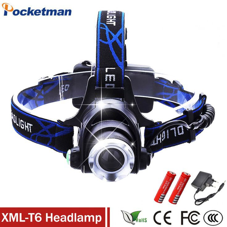 3800Lumens CREE T6 Headlamp LED Headlight Chargers Head Lamp LED Flashlights Head Torch Camping Fishing with 18650 Battery #Affiliate