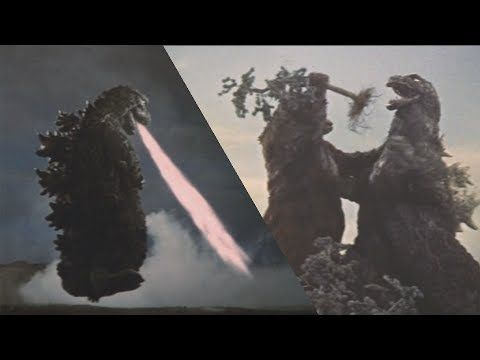 Showa Godzilla ゴジラ : The Funniest Moments - YouTube