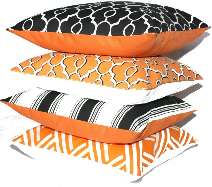 Christmas Gift Ideas - OH HOME orange cushions