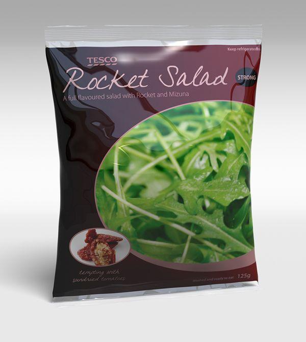 Tim Cooper, 3D advertisement model of a bag of salad