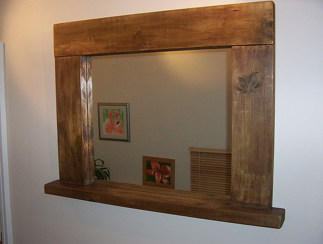 Chunky Rustic Mirror With Shelf To Go With The Table I Want Eric To Build