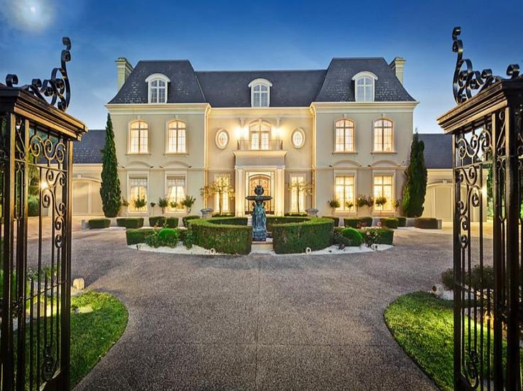 French Chateau Style Home French Chateau Style Gated