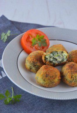 croquetas con espinacas y queso