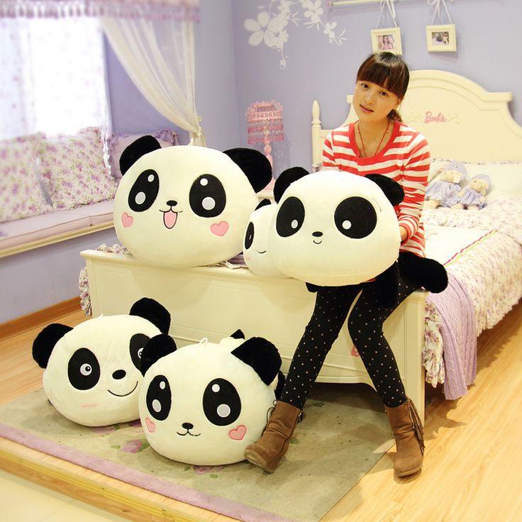 Праздничная распродажа 55 см супер милый забавный большой лежа сладкий панда ткань кукла держать подушку плюшевые игрушки творческий подарок на день рождения 1 шт.