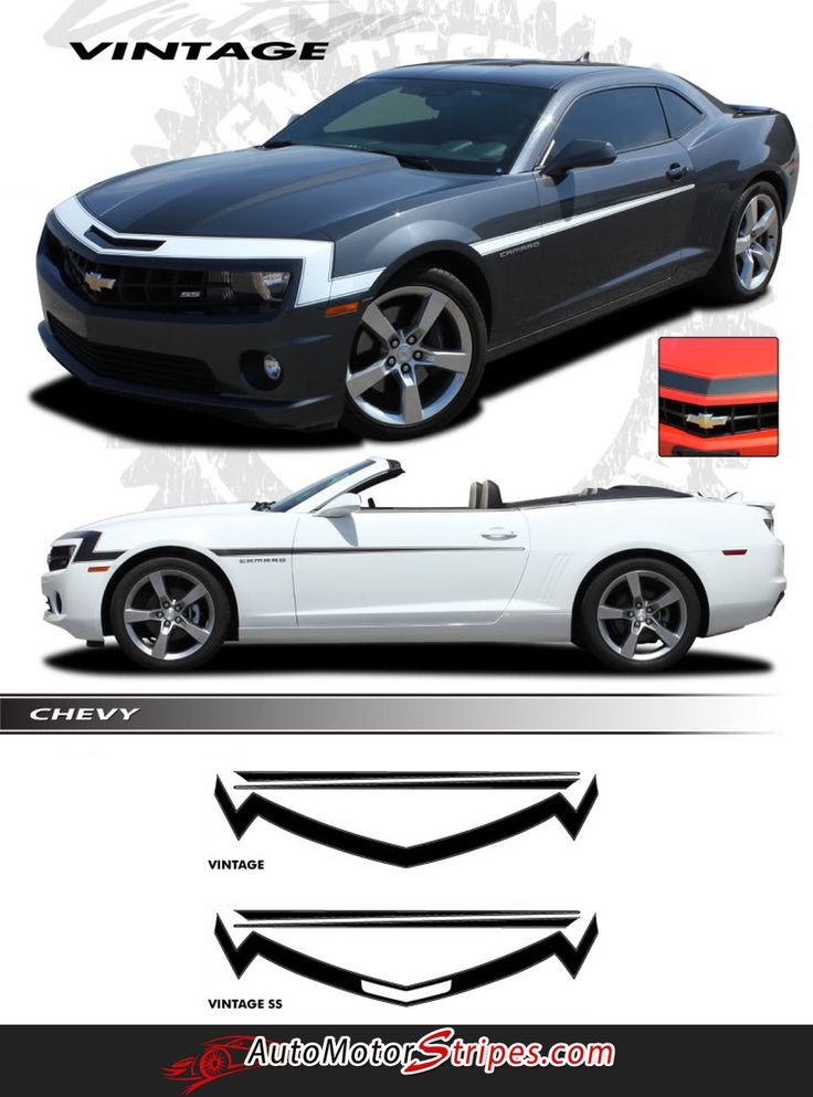 2010 2013 chevy camaro vintage ss rs retro style 3m vinyl stripes kit